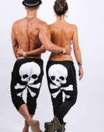 Back Harem Skull white