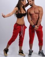 Low rise skinny Red and brown stripes belt slim