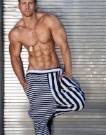 Zebra stripe pants